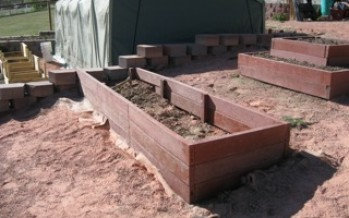 Building Raised Bed Garden Boxes Using Recycled Plastic